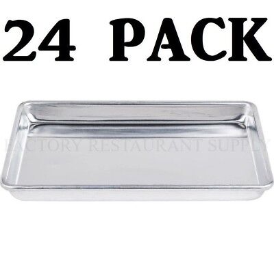 24 Pack Quarter Size Aluminum 13 X 9 12 Bun Sheet Baking Pan Serving Tray