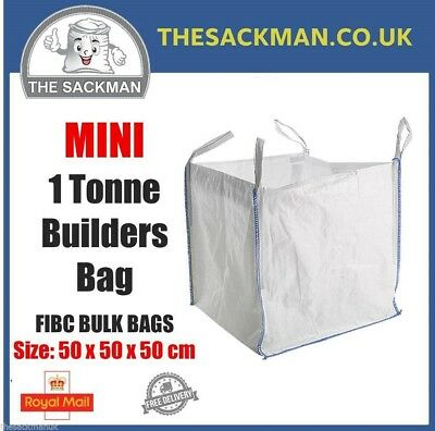 MINI 1 Tonne Skip Bulk Bags Builders Heavy Duty  Sack Kerbside Collection Paper