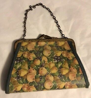 1930s Handbags and Purses Fashion ANTIQUE EARLY 1930'S LADIES Plastic Covered Fabric PURSE W/ Note From Owner $41.99 AT vintagedancer.com