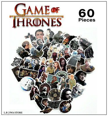 Cozy Home Decoration Stickers Game Of Thrones 60 Pieces Home Decor For Laptop Luggage Bags Car Fridge Buy Wholesale Home Decor