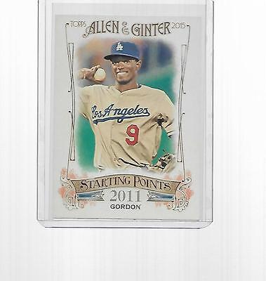 2015 Topps Allen   Ginter Baseball Starting Point Dee Gordon  Sp 44