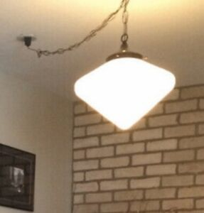 Classic White Glass ceiling lamp - $50