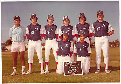 Vintage 80s PHOTO Group Young Teen Boys National Colt Baseball Players Team