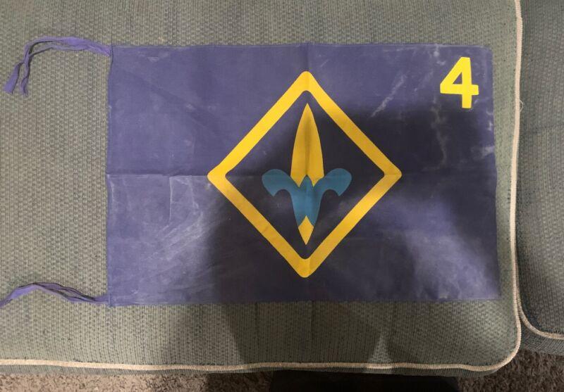 Boy Scout BSA Cub Scout Webelos Den Flag 4 Blue & Gold