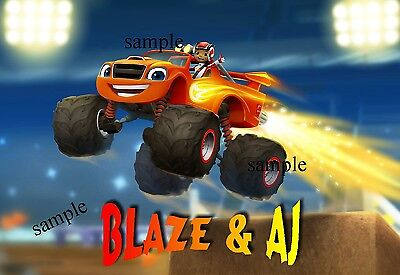 AJ & BLAZE FROM BLAZE AND THE MONSTER MACHINES  IRON ON TRANSFER
