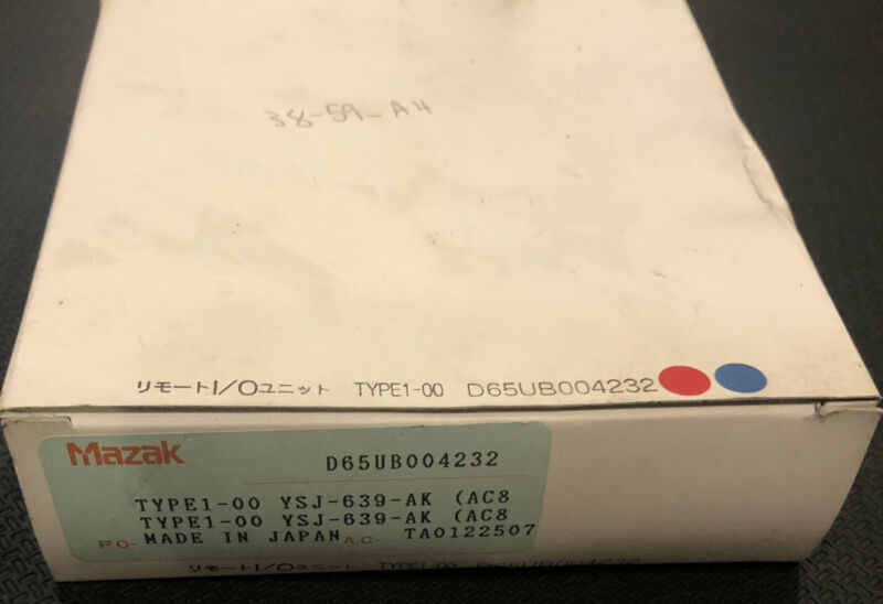Mazak D65UB004232 Control PC Board