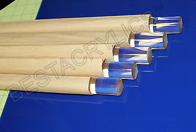 "1//2/"" dia .500 1 pce 48 long clear acrylic plexiglass rod lucite"