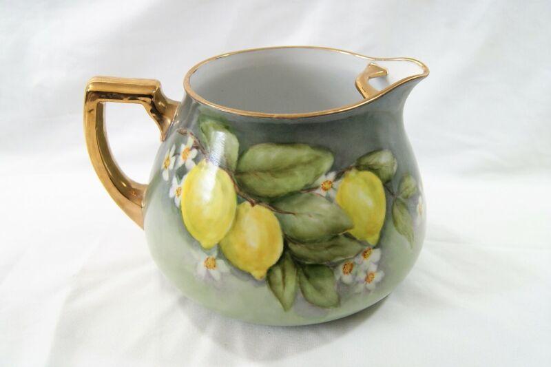 Vintage International Porcelain Art Teachers Lemonade Pitcher Hand Painted