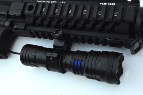 Tactical LED Gun FLASHLIGHT 800 Lumens Rifle Shotgun Picatinny mount Battery