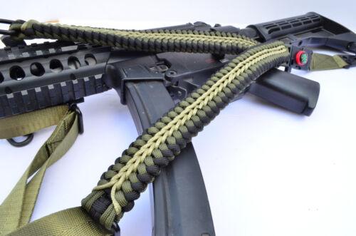 Tactical 550 Paracord Rifle Gun Shotgun Sling 1 Point Compass & Flint CROCODILE