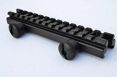 Riser Scope Mount - Rifle Scope Full 14slot Riser Mount Flat Top Low Profile 1/2