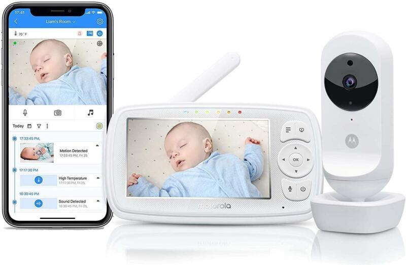 Motorola Ease44CONNECT Wi-Fi Video Baby Monitor 4.3 LCD Remote Zoom Night Vision