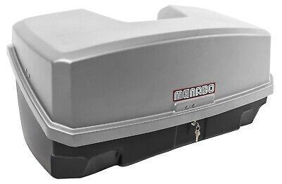 Nekkar silber Transportbox Gepäckbox für Kupplungsträger Heckträger 300 Liter