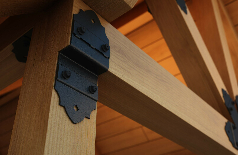 Winkelverbinder Holzverbinder Bauwinkel Stuhlwinkel Balkenschuh verzinkt schwarz