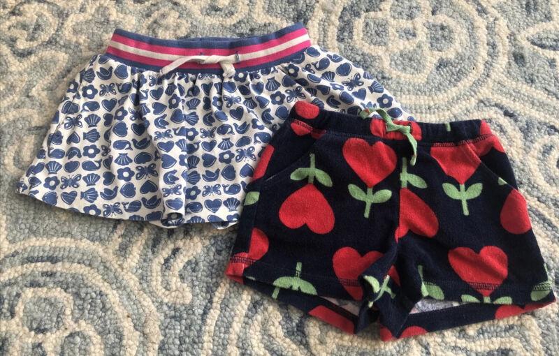 Mini Boden Girls Butterfly Skirt Heart Shorts Lot Sz 2-3
