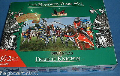 ACCURATE 7207 FRENCH KNIGHTS HYW. 35 x 1/72 SCALE UNPAINTED PLASTIC FIGURES