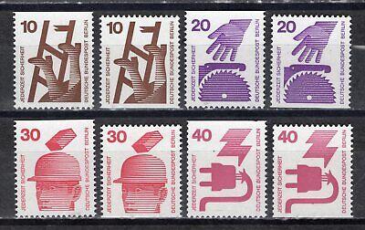 BERLIN 1971 MI NR 403 404 406 407 C D WERTE UNFALLVERH TUNG POSTFRISCH
