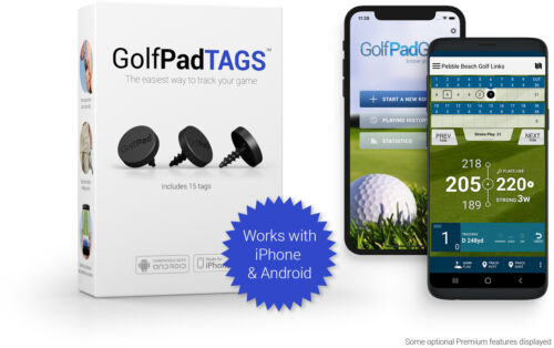 Golf Pad TAGS ® Automatic Golf Game Tracking System - Refurbished with warranty