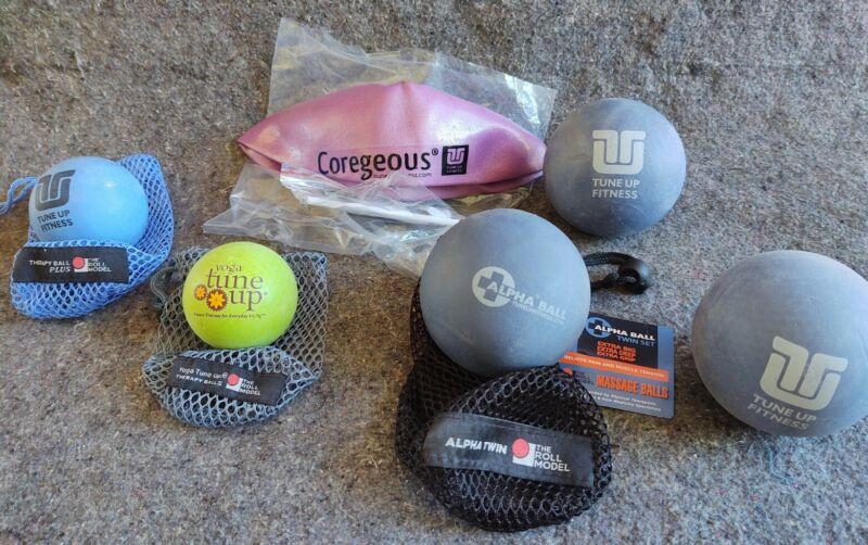Yoga Tune Up Alpha Ball Coregeous Therapy Balls lot 3 large 1 medium 1 small