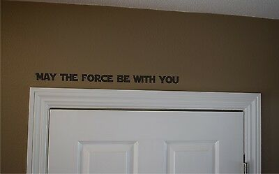 Star Wars May The Force Be With You Decal   Star Wars Wall Decal