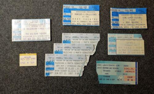 Lot of 9 CONCERT TICKET STUB LOT 1980