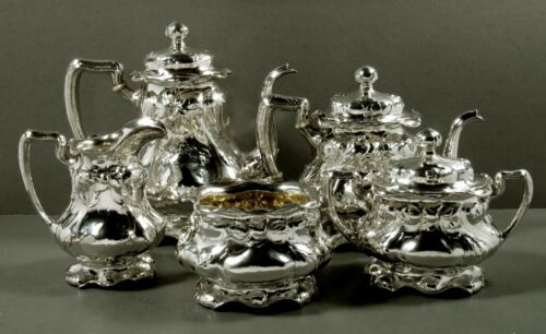 Gorham Sterling Silver Tea Set                                1908 MARTELE