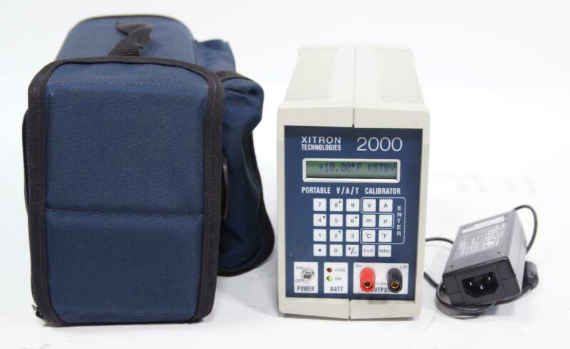 XiTron Technologies 2000 Portable V/A/T DC Calibrator Temperature Source