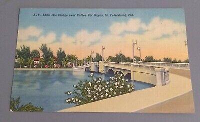 SNELL ISLE BRIDGE OVER COFFEE POT BAYOU, ST. PETERSBURG, FLORIDA POST CARD