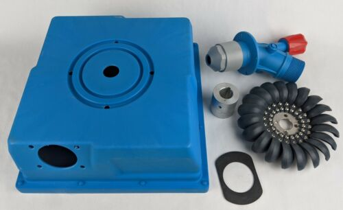 Hydro PMA Generator Base Box-Adjustable Nozzle-Turgo Wheel-Adapter pre-drilled