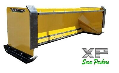 8 Xp30 Pullback Snow Pusher W Front Shoes Skid Steer Bobcat Case Local Pick Up