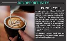 Looking for an experienced Barista Berwick Casey Area Preview
