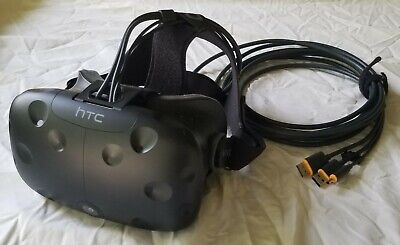HTC Vive Virtual Reality Headset (Includes Controllers, Cameras, Cables)