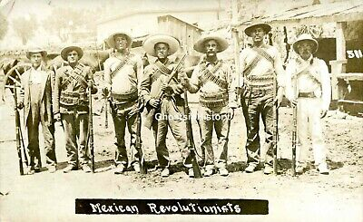 1911~ARMED MEXICAN REVOLUTIONISTS~REAL PHOTO POSTCARD~UNUSED RPPC - Mexican Real Photo