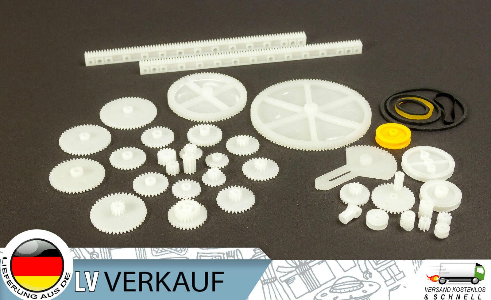 34 Teile Nylon Zahnräder Zahnrad Getriebe Set für Arduino Steppermotoren DIY