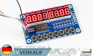 Digitales LED Display 8-Tasten Modul 8-Bit TM1638 für Arduino, Raspberry Pi, DIY