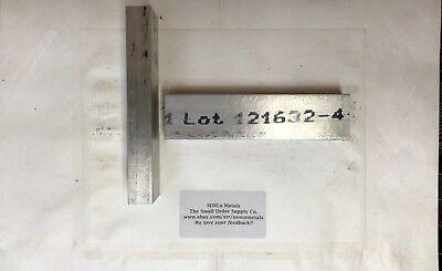 2 Pcs1x2x8 6061 Aluminum Flat Bar Cnc Machining Tool Solid Block