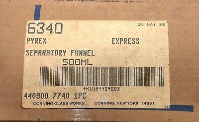 Pyrex Separatory Funnel 500 Ml Chemistry Lab Glassware