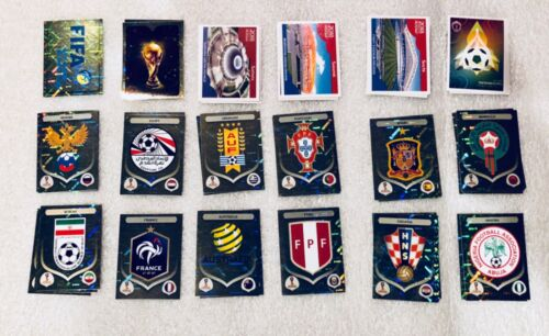 Panini World Cup Russia 2018 Stickers Team Foil Logos, Legends, Stadium, Players