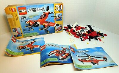 Lego Creator 3-in-1 Set ~ (31047) Propeller Plane ~ Helicopter ~ Speed Boat
