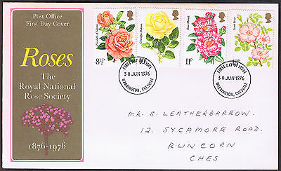 Royal National Rose Society - First Day Cover 1976 - stamps SG1006 to SG1009