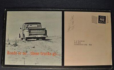 1962 Chevrolet Pickup Truck Mailer Brochure Excellent Original 62