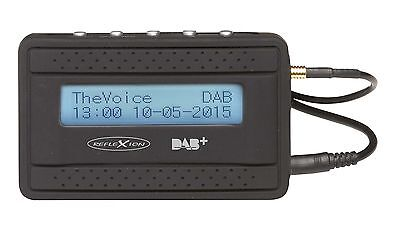Reflexion AD55+ DAB+ Adapter mit FM-Transmitter Funktion, für Auto & zu Hause