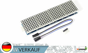 Ein 4x8x8 LED Matrix-Modul MAX7219 LED-Anzeige rot für Arduino Raspberry Pi