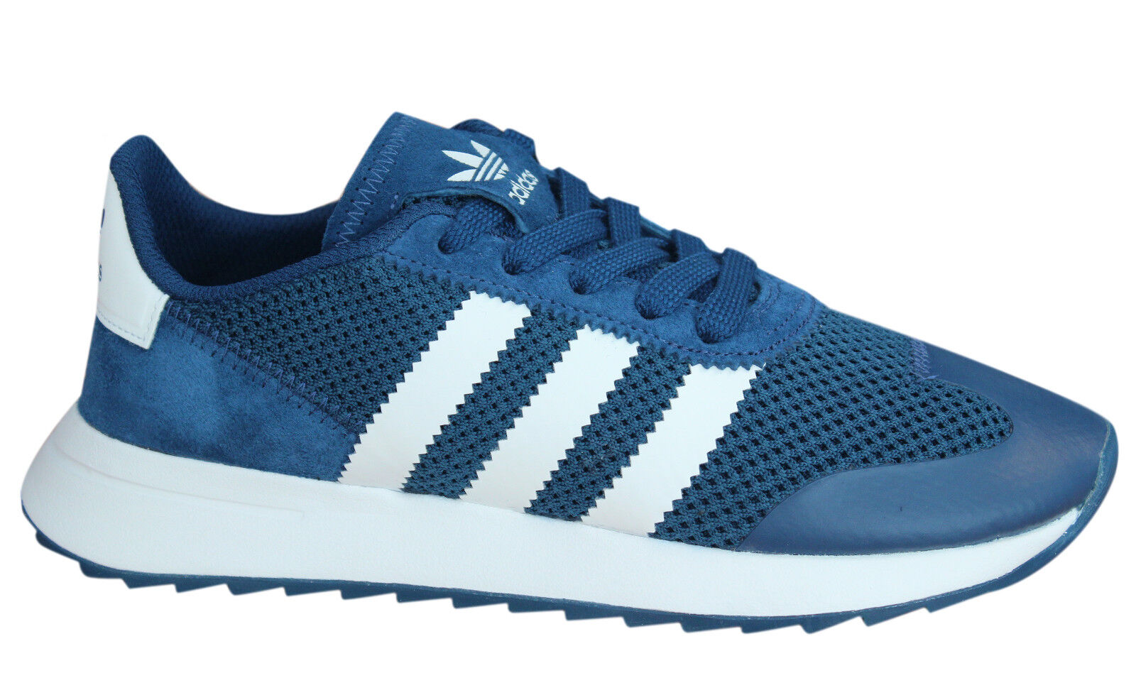162a9efac882 Adidas Originals Flashrunner Womens Trainers Lace Up Shoes Navy Blue ...