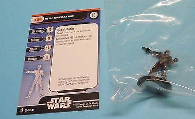 Star Wars Miniatures Knights Old Republic Sith Operative #20/60 NEW NIB Minis