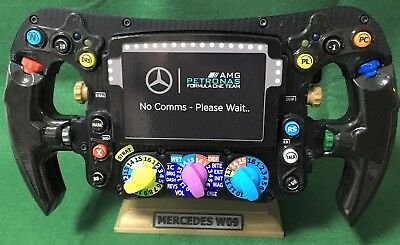 Lewis Hamilton FULL SIZE replica W09 steering wheel_F1_World Champion_Mercedes, used for sale  Shipping to United States