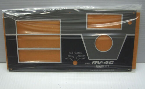 Drake RV-4C  Front Panel NEW reproduction by 4CFrontPanels