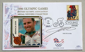 OLYMPIC-GAMES-ATLANTA-1996-BENHAM-COVER-CYCLING-SIGNED-BY-MAX-SCIANDRI