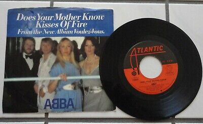 ABBA Does Your Mother Know w/ Pic. Sleeve VG+/VG++  Vinyl    45 RPM