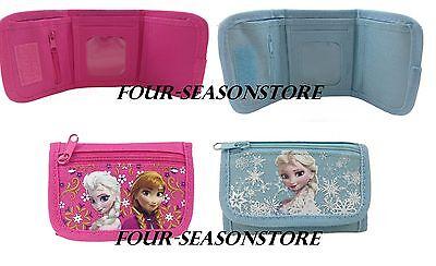 Disney Frozen Wallet Kids Coin Purse Anna Elsa Tri-Fold Bag Girls Licensed NEW - Frozen Purse